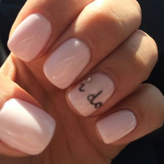 I DO! wedding nail design ideas