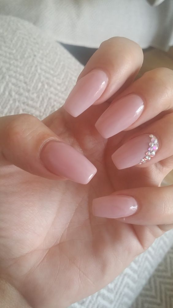 Pink Wedding Nail Art Design