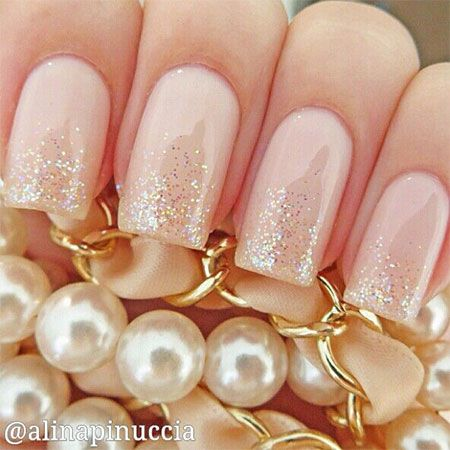Pink Wedding Nail Art Designs Ideas