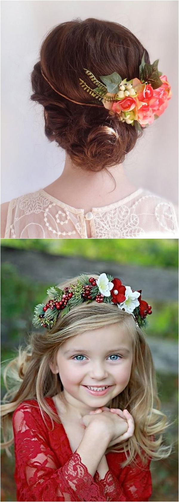 Red berries and green leaves Hairpieces