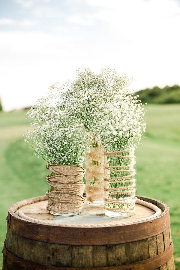 Rustic mason jar wedding devorations