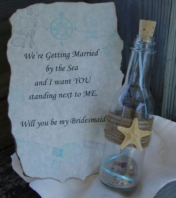 We're getting married - Will you be my bridesmaid