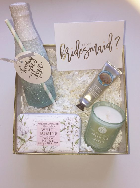 Will you be my bridesmaid gift box ideas