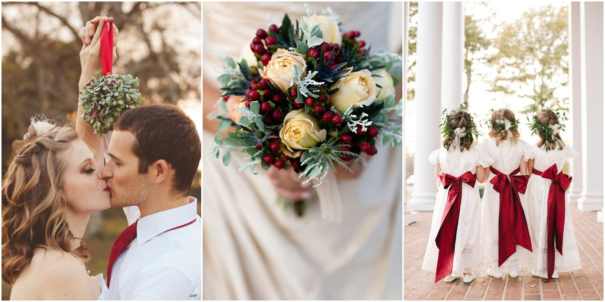 16 christmas wedding ideas you can t miss for Ideas for wedding pictures