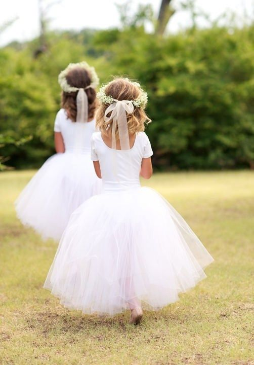 inspiration for the flower girl dresses