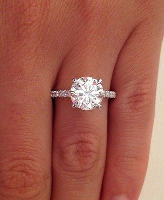 2.38 ct round cut d si1 diamond solitaire engagement ring