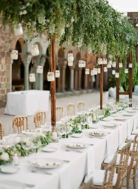 A fresh green summer wedding on the French Riviera