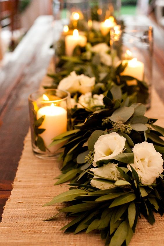 Greenery Wedding Garland Centerpiece