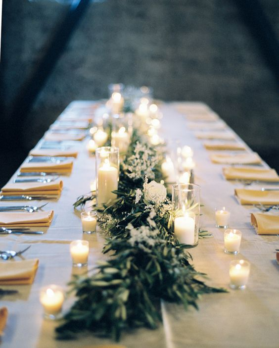 Greenery with mixed flower Wedding Centerpiece