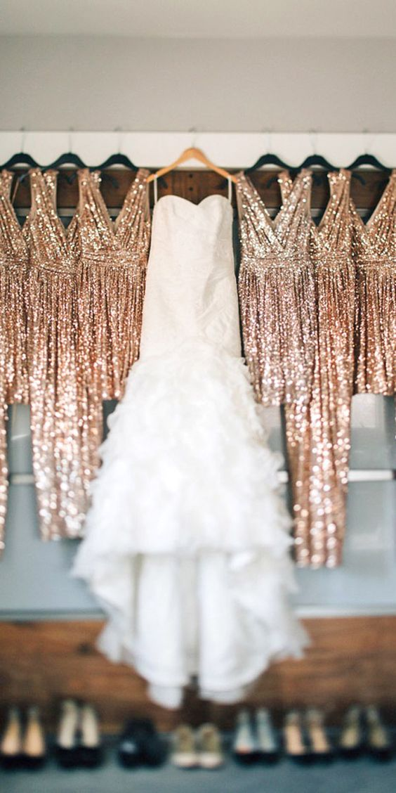 Pre-Wedding Shots Hanging Wedding Dress