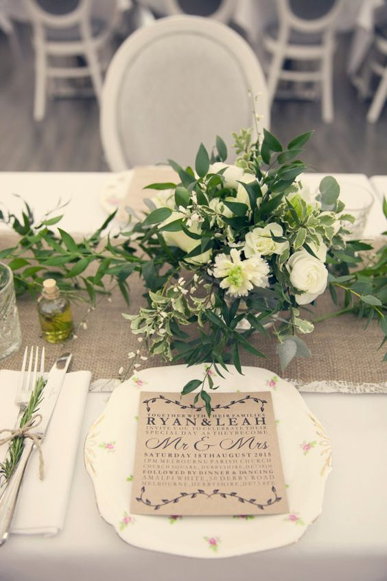Rustic Italian Inspired wedding centerpiece