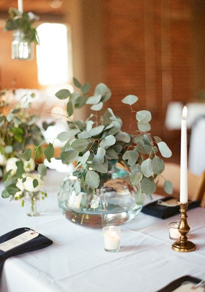 Simple greenery centerpiece