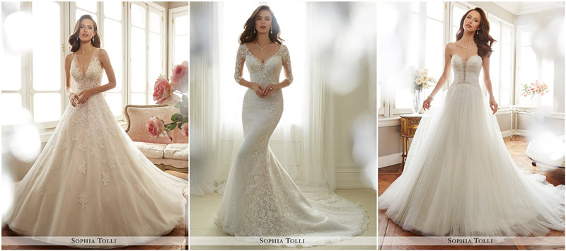 Sophia Tolli Spring 2017 Wedding Dresses Collection