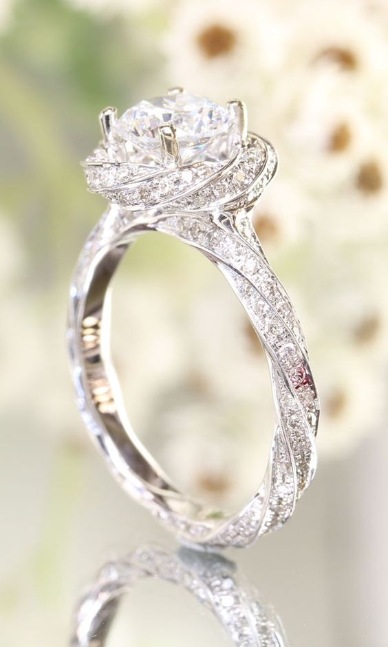 Stunning twist engagement ring