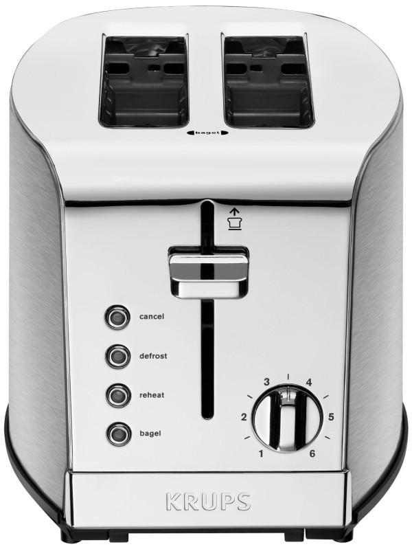 Breakfast Set 2-Slot Toaster with Brushed and Chrome Stainless Steel Housing