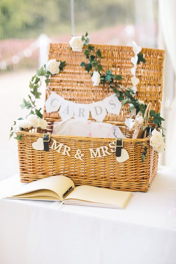 Creative wedding card box ideas