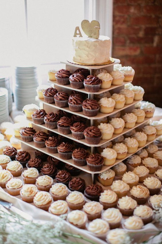 Cute and Simple Wedding cupcake ideas