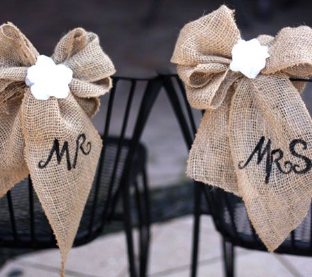 DIY Burlap Wedding Decorations