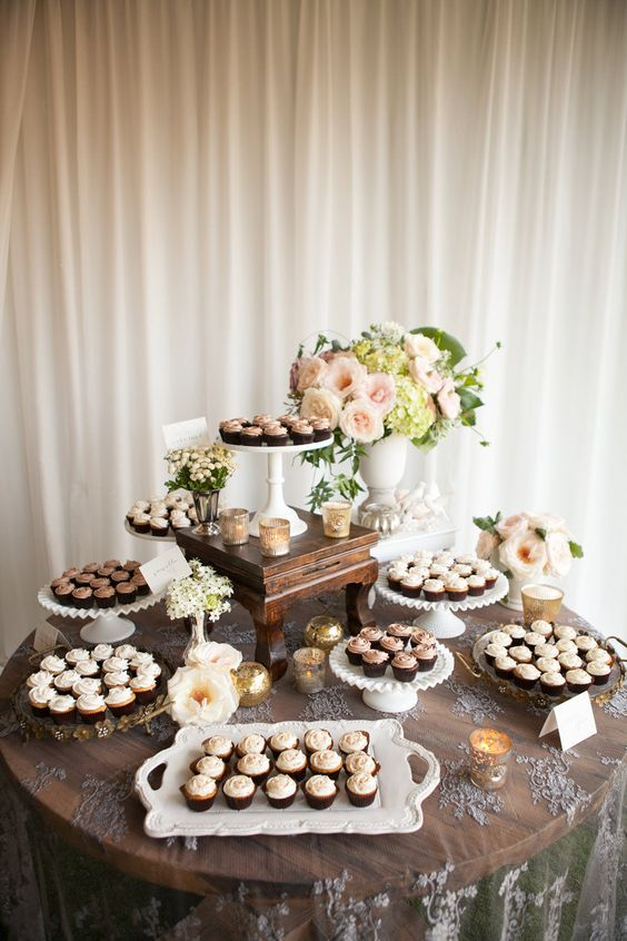 Elegant and cute wedding cupcake ideas