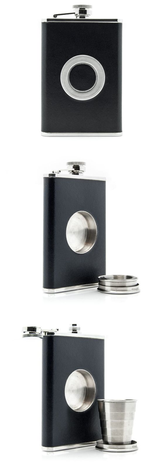 Flask with a built in shot glass - super cool for a bridesmenor groomsmen gift