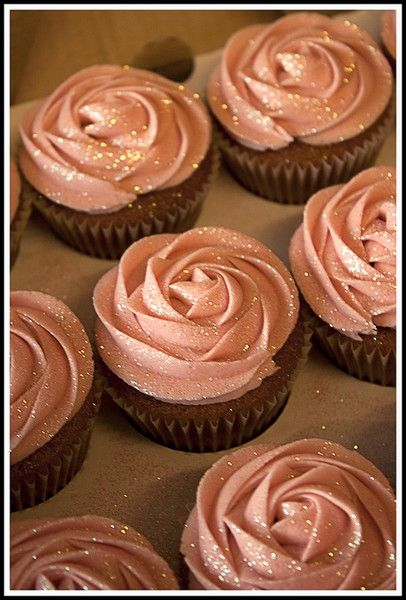 Glitter Cupcakes Love this