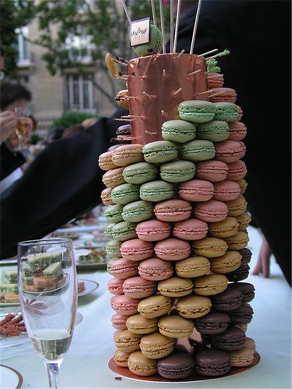 Macaron Tower Wedding cake ideas