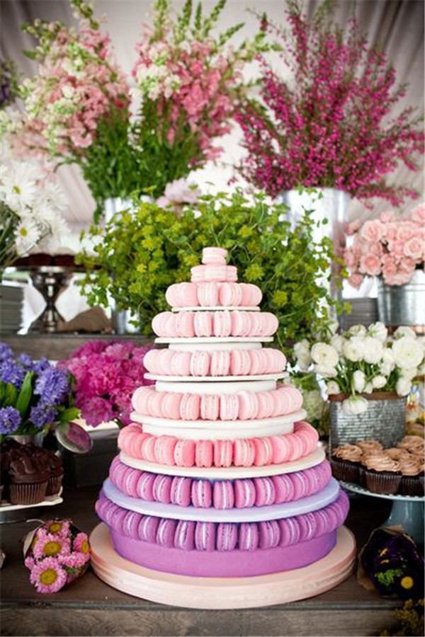Ombre macaron tower Ideas for cake