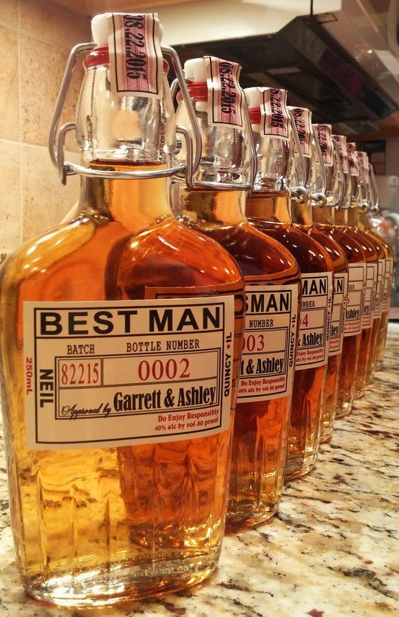 Personalized Groomsman and Best Man Beer and Liquor Label Custom Grooms Gifts