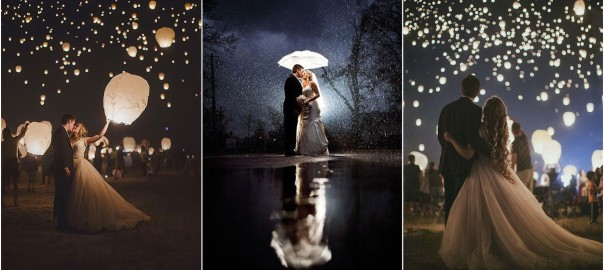 Romantic night wedding photos you never wonna miss