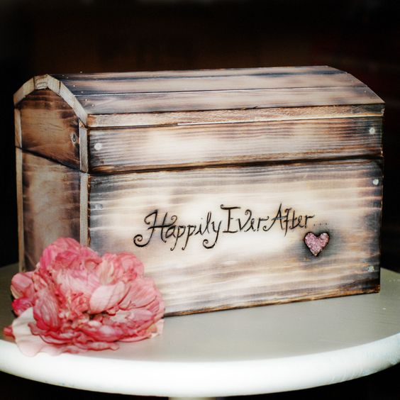 Shabby Chic Wedding Card Box Medium