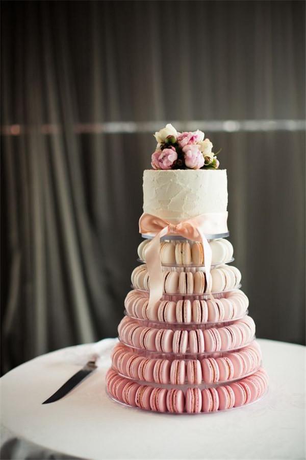 Stunning wedding macaron cake from a Sydney wedding