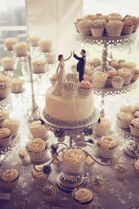 Wedding Topper And Cupcakes