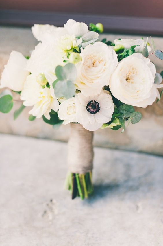 anemone and garden rose bouquet - Garden Rose Bouquet