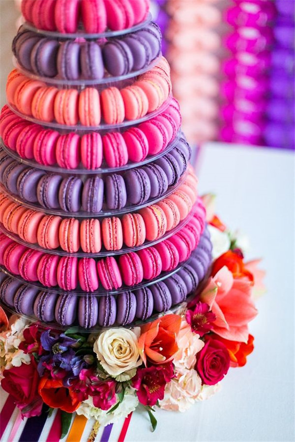 incredible macaron tower by Andrea