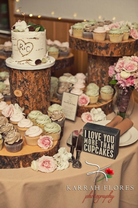 informal cupcake wedding cakes are perfect