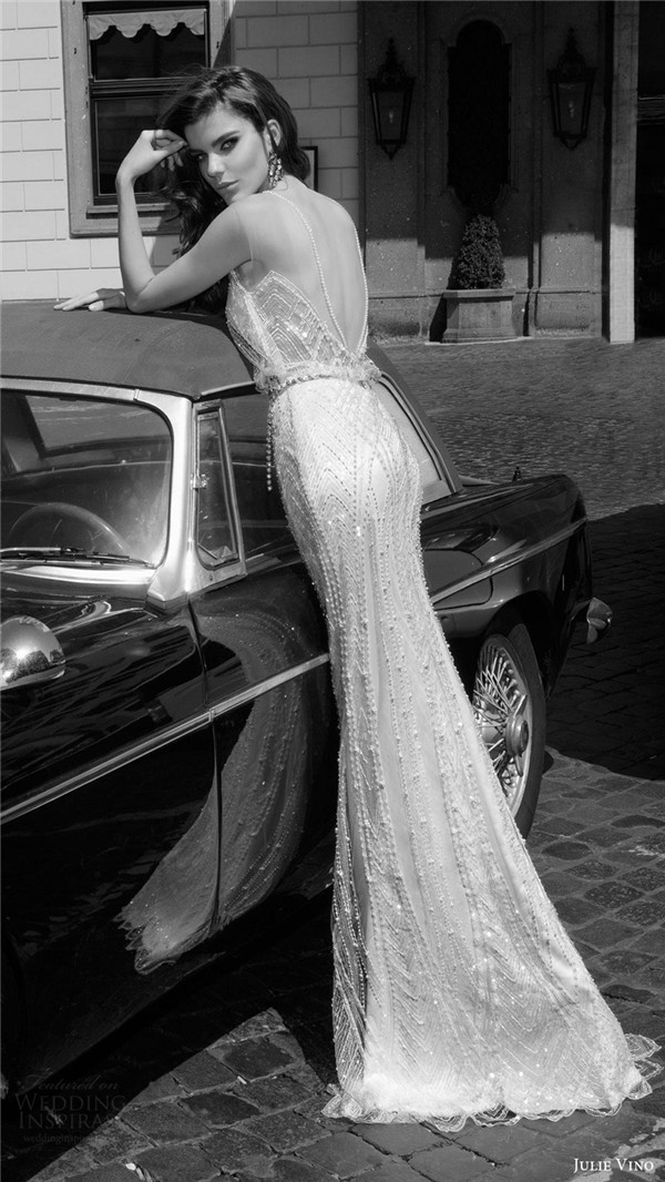 julie vino bridal spring 2017 sleeveless sweetheart illusion jewel neckline blouson wedding dress gina bv vback