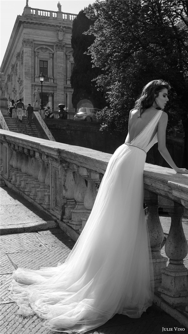 julie vino bridal spring 2017 sleeveless vneck ball gown wedding dress marcella bv vback train