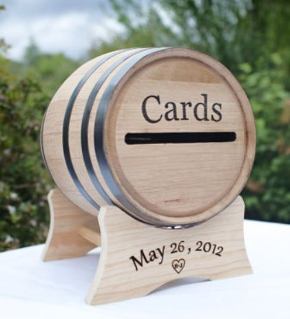 Personalized Wine Barrel For Wedding Cards