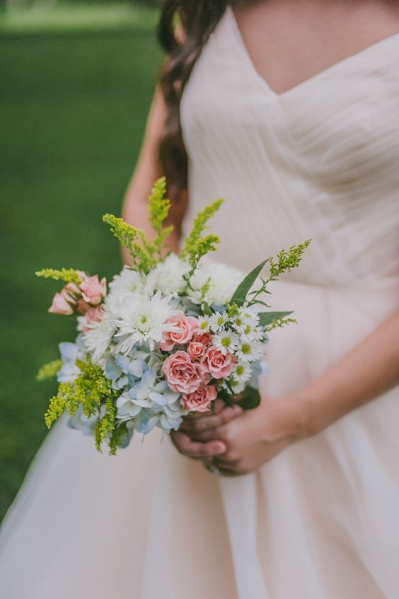 soft wildflower bouquet