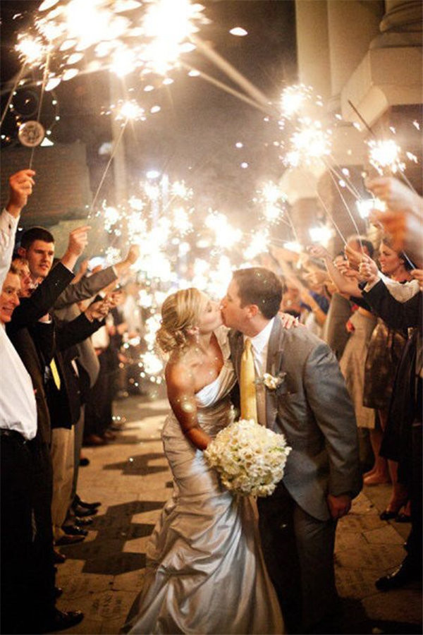 sparklers for a magical wedding photo