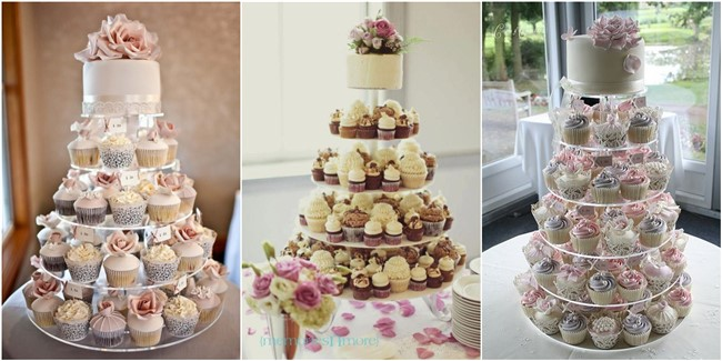 untraditional small wedding cupcakes with big styles