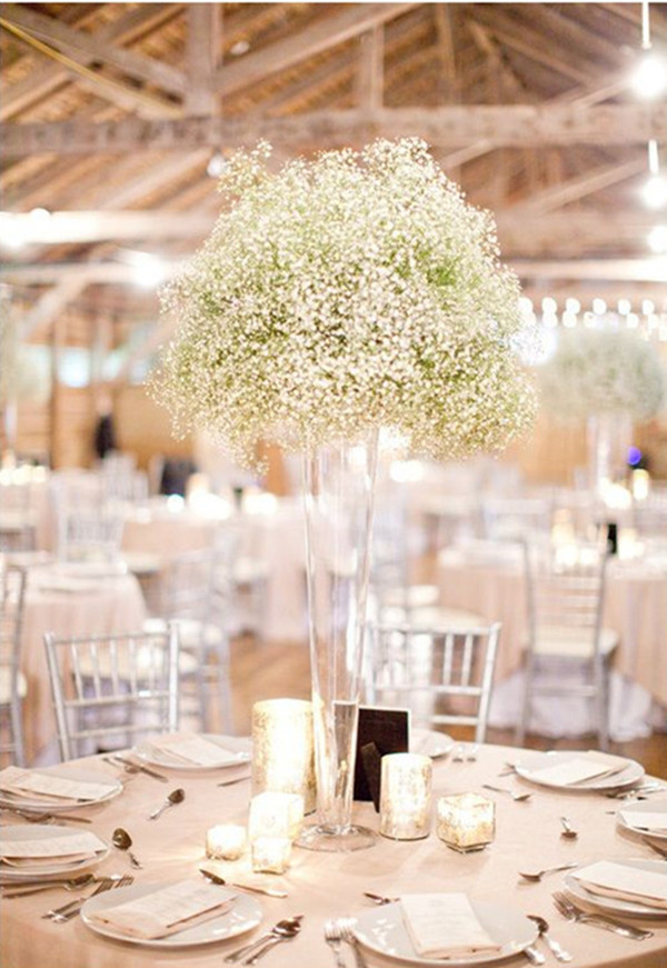Baby's breath centerpieces - tall enough
