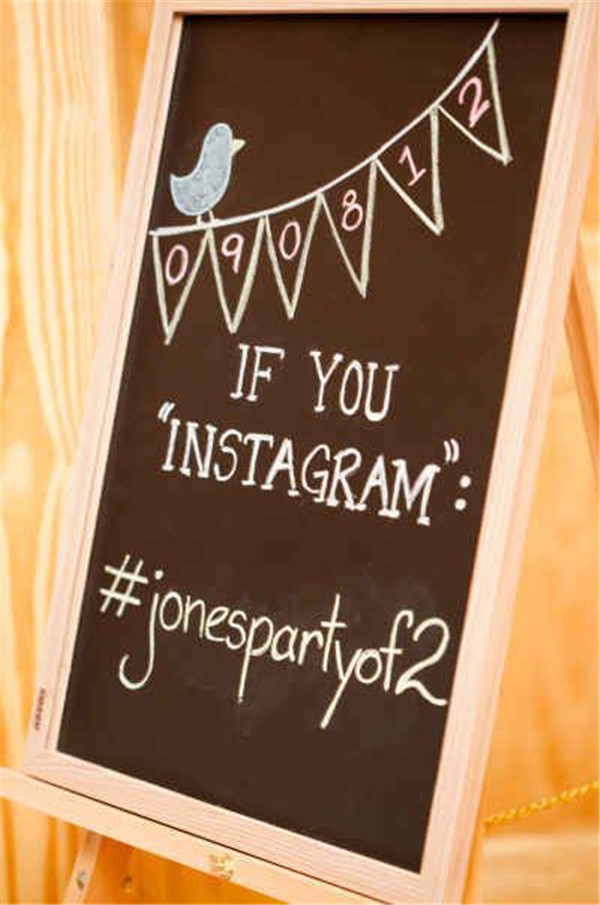Create a unique hashtag just for your special day for all your social media addicted guests