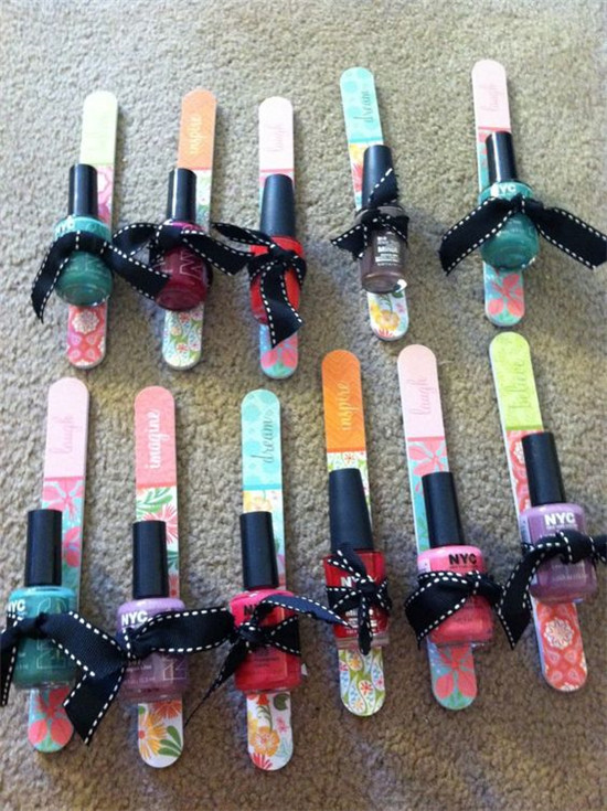 cute party favor for a spa party tween girls birthday party or bridal shower