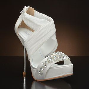 DAVID TUTERA BOUQUET Wedding Shoes WHITE IVORY