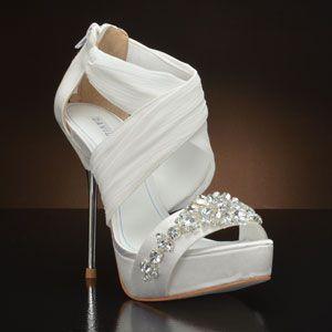 DAVID TUTERA BOUQUET Wedding Shoes WHITE IVORY
