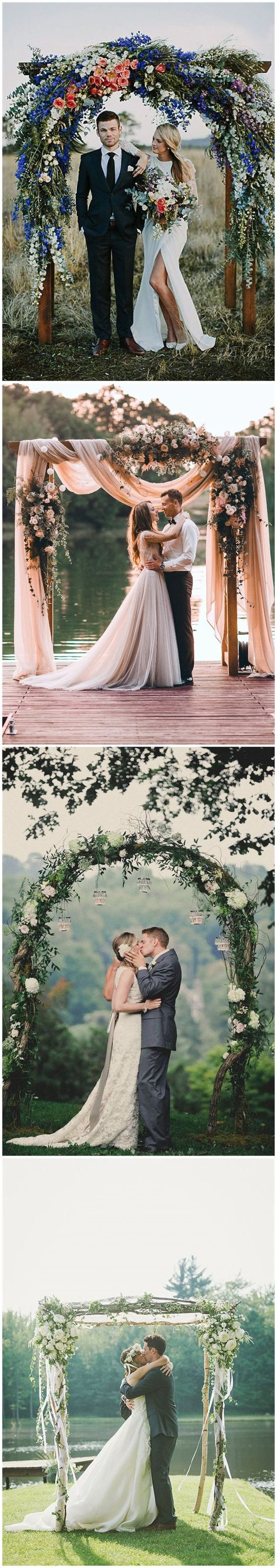 DIY Floral Wedding Arch Decoration Ideas 1