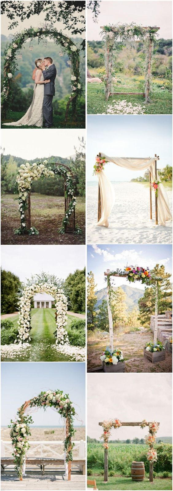 DIY Floral Wedding Arch Decoration Ideas