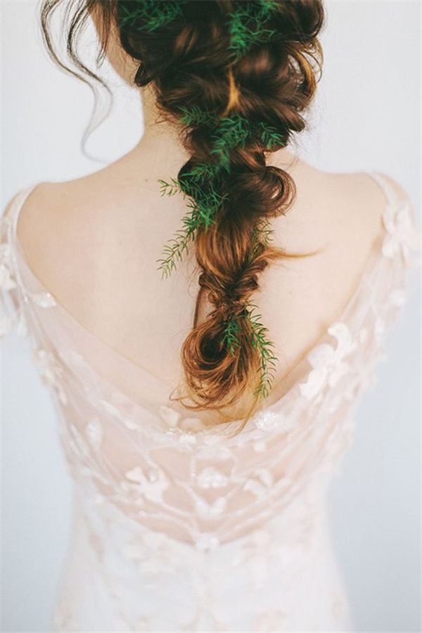 Fabulous Hair loose braid with greenery