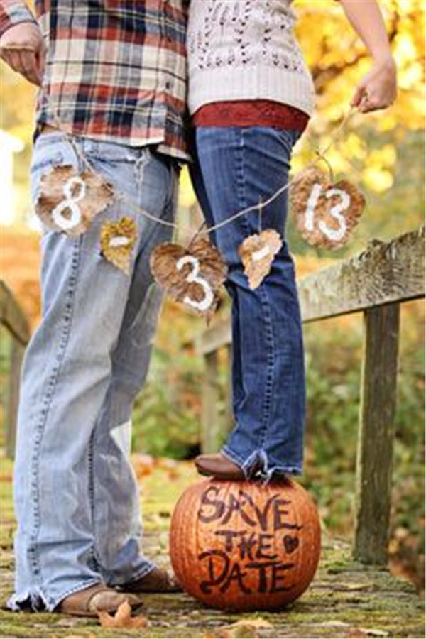 23 best fall wedding ideas in 2017 fall save the date ideas for your autumn wedding junglespirit Choice Image